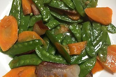 荷兰豆炒腊肉