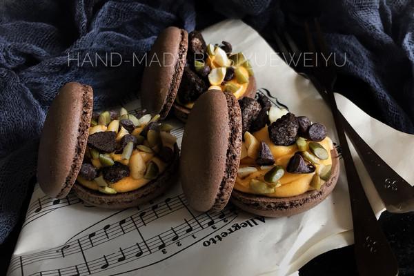 巧克力坚果马卡龙的做法