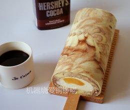 可可大理石纹蛋糕卷的做法