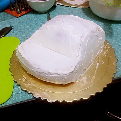 汽车蛋糕的做法 步骤2