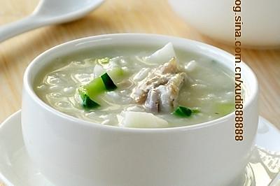 山药猪骨青菜粥