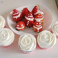 草莓杯子蛋糕点心