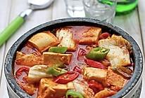 辣白菜豆腐汤的做法