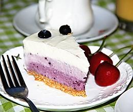 蓝莓渐变色冻芝士蛋糕的做法