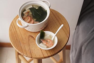 #花10分钟,做一道菜!#鲜虾豆腐汤