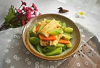 清炒腐竹黄瓜胡萝卜的做法
