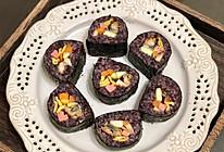 紫米鳗鱼寿司卷的做法