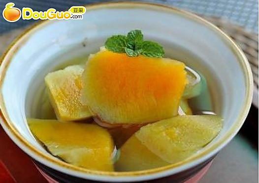 清凉一夏:姜汁番薯冰糖水的做法