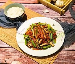 素食——芹菜胡萝卜炒香干的做法