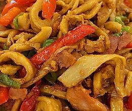 青红椒面筋炒肉丝