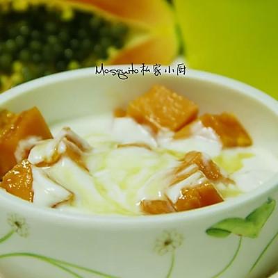 木瓜酸奶(含面包机制作酸奶方法)【Mosquito私家小厨】