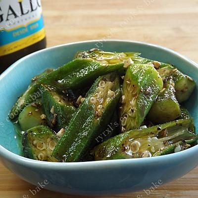 橄露Gallo经典特级初榨橄榄油试用之二——蒜蓉油醋汁拌秋葵的做法 步骤10