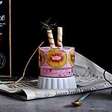 紫甘蓝奇异果杯壁思慕雪#网红美食我来做#