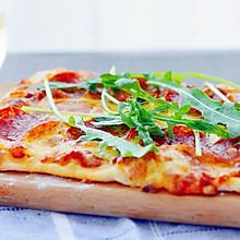 意式薄底披萨+自制披萨酱#长帝烘焙节(半月轩)#
