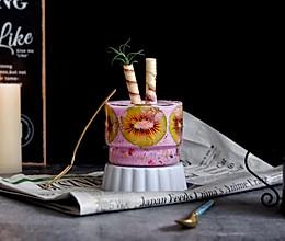 紫甘蓝奇异果杯壁思慕雪#网红美食我来做#的做法