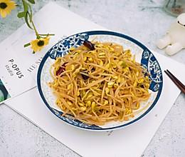 #花10分钟,做一道菜!#辣炒黄豆芽的做法
