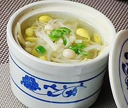 金针豆芽汤的做法