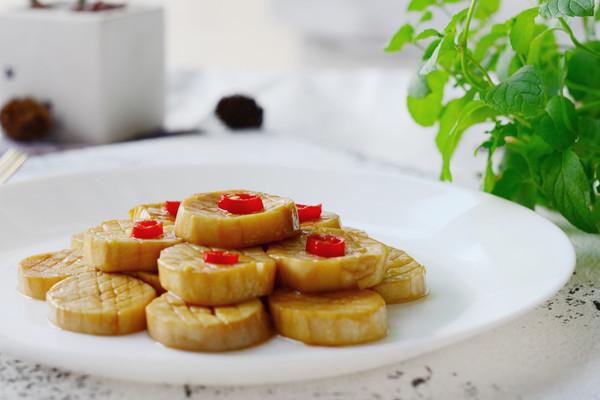 蚝油烧素鲍鱼-低脂素食的做法