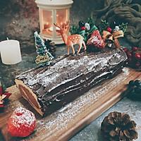 圣诞树桩蛋糕卷couss卡士烤箱750a试用反馈的做法图解29