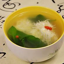 文思豆腐枸杞汤#春天里的一抹绿#