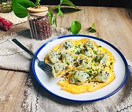 馄饨新吃法,简单营养早餐蛋煎馄饨的做法