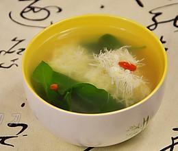 文思豆腐枸杞汤#春天里的一抹绿#的做法