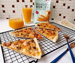 #爱好组-高筋#意大利薄底黑椒牛肉披萨的做法