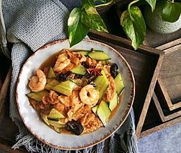 #母亲节,给妈妈做道菜#虾仁独面筋的做法