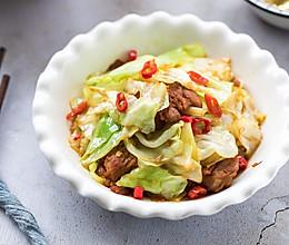 包菜炒肉的做法