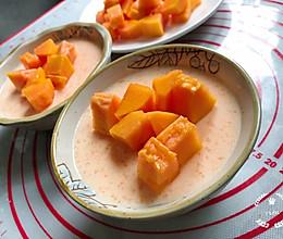 木瓜撞奶-1岁+甜品的做法