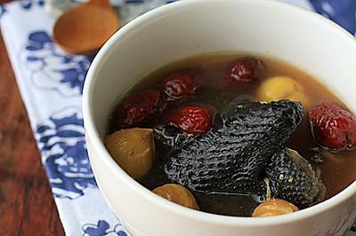 【栗子乌鸡养生汤】——给自己煲一碗温润的汤