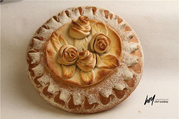 玫瑰花装饰面包的做法