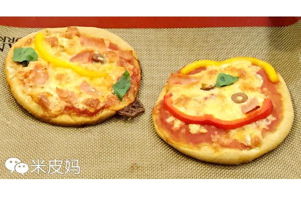 【老皮的亲子厨房】有趣的笑脸Pizza的做法