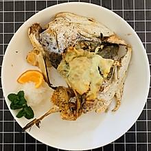 芝士烤三文鱼头