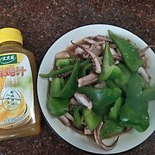 #太太乐鲜鸡汁玩转健康快手菜#青椒炒鱿鱼须
