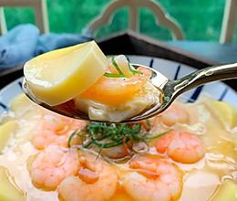 #我们约饭吧#蒸豆腐虾仁蛋羹的做法