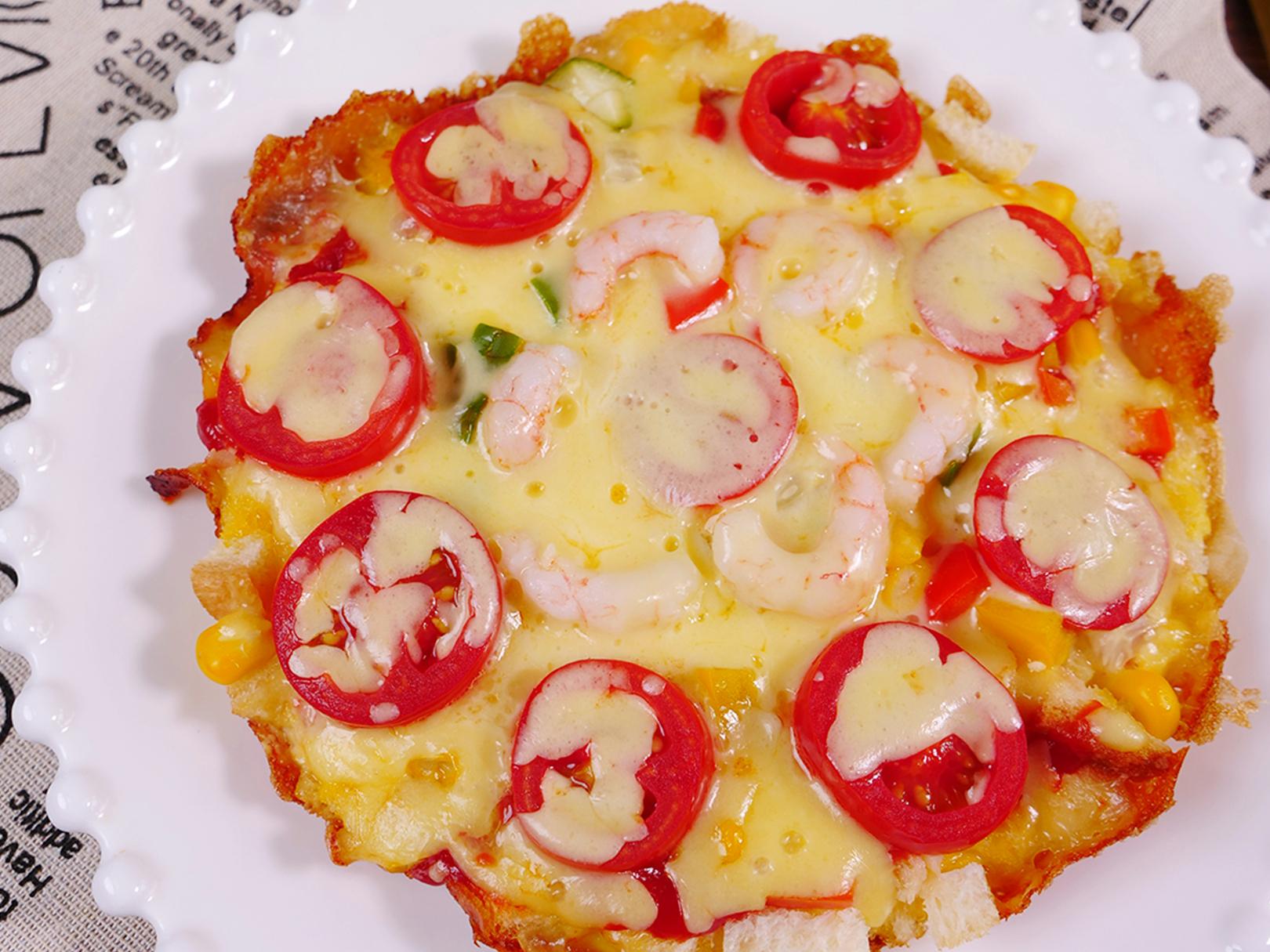 鸡蛋吐司披萨