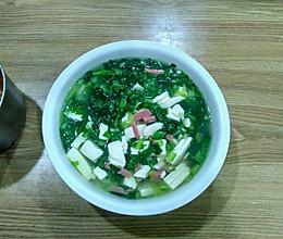 小白菜嫩豆腐汤的做法