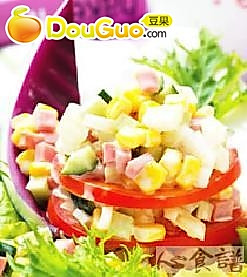 火腿甜珍珠沙拉的做法