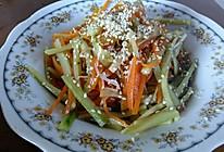 凉拌豆芽黄瓜菜的做法