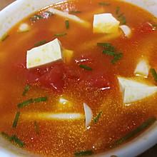 西红柿海鲜菇豆腐汤