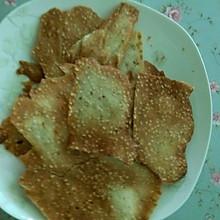 蛋清芝麻脆饼