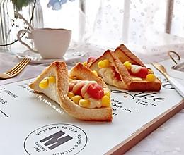 香肠吐司披萨卷#带着美食去踏青#的做法