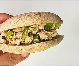 自制低脂低卡全麦鸡肉肉夹馍的做法