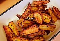 #全电厨王料理挑战赛热力开战!#追剧小零食 烤薯角的做法