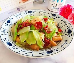 #一道菜表白豆果美食#小米椒腊肠油豆腐炒儿菜的做法