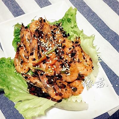 三丁干煎虾