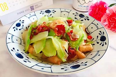 小米椒腊肠油豆腐炒儿菜