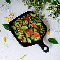 #花10分钟,做一道菜!#火腿肠炒黄瓜的做法图解11