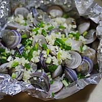 锡纸烤蛤蜊的做法图解4
